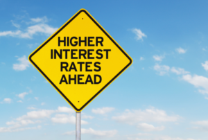 higher-interest-rates-yield-sign